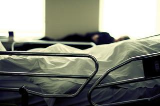 somber hospital room